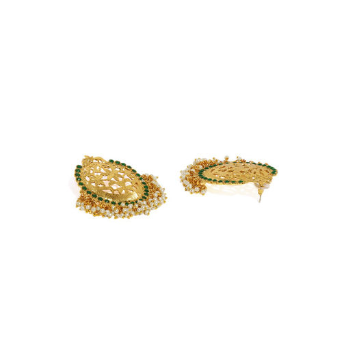 Zaveri Pearls Set of 2 Gold-Toned Drop Earrings