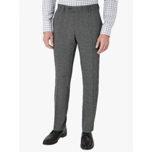 next Men Grey Checked Regular Fit Trouser