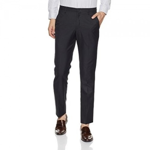 John Miller Men's Slim Fit Poly Viscose Formal Trousers