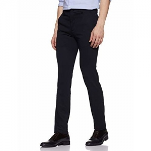 John Miller Men's Slim Fit Formal Trousers