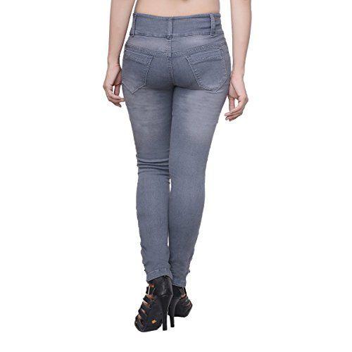 NIFTY Women's Slim Fit Jeans (Jean_1316_Gry_Grey_30)