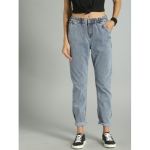 Roadster Blue Slim Fit Mid-Rise Clean Look Stretchable Jeans