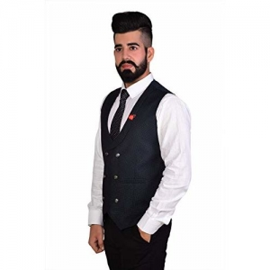 REBAV 3 Colours Men's Double Breasted Waistcoats