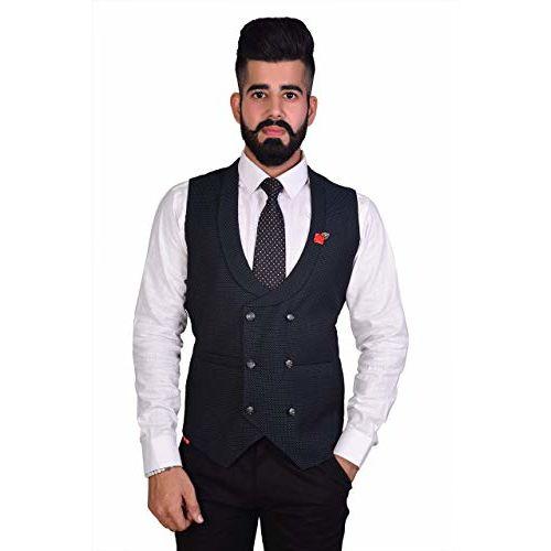 REBAV 3 Colours Men's Double Breasted Waistcoats