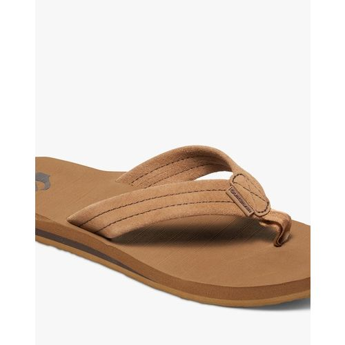 QUIKSILVER Carver Suede Thong-Style Flip-Flops