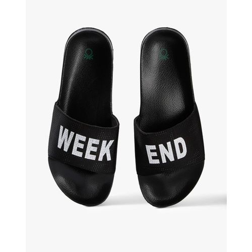 UNITED COLORS OF BENETTON Typographic Print Slides with Perforations