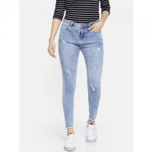 Lee Cooper Women Blue Saunders Super Skinny Fit Mildly Distressed Ankle Length Jeans LC 05