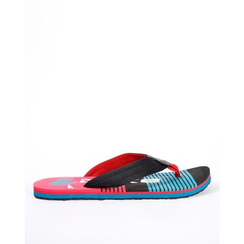 DUKE Striped Thong-Style Flip-Flops with Branding