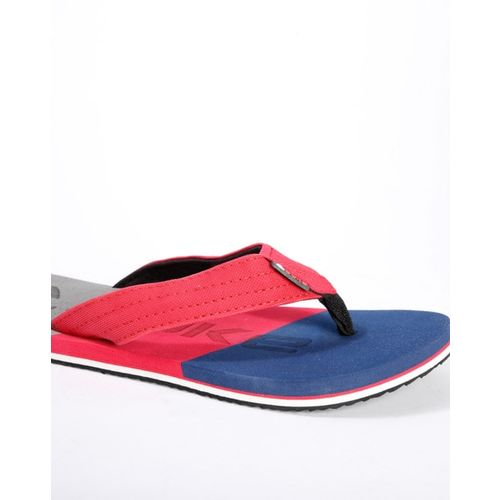 DUKE Colourblock Thong-Style Flip-Flops with Branding