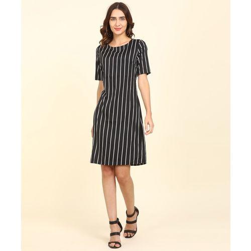 Provogue Women Shift Black Dress
