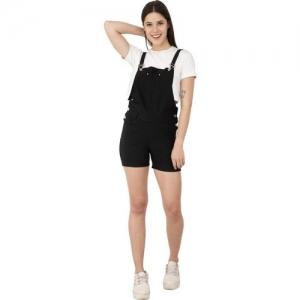 AAKRITHI Women Pinafore Black Dress