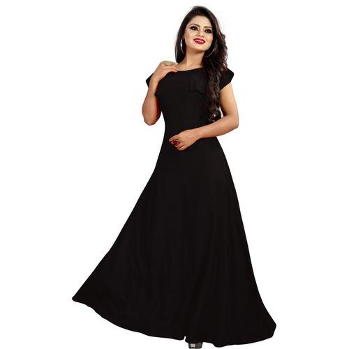 gopinath fab Women Maxi Black Dress
