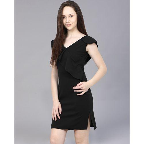 Addyvero Women Sheath Black Dress