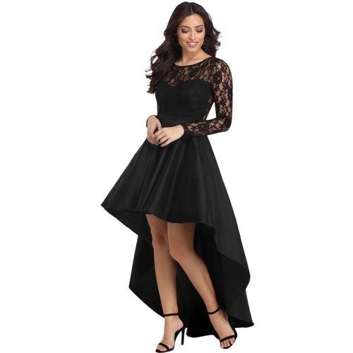 Boldgal Women High Low Black Dress