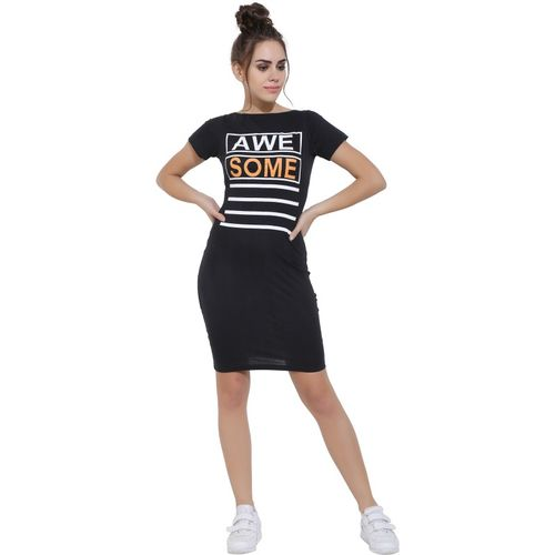Aayu Women Bodycon Black Dress