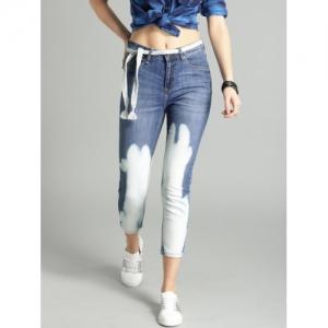 642bb1fc7c Buy Harvard Women Blue Slim Fit Mid-Rise Jeans online   Looksgud.in