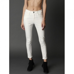 Roadster White Skinny Fit Mid-Rise Clean Look Stretchable Jeans
