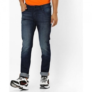 JOHN PLAYERS Low-Rise Washed Slim Fit Jeans