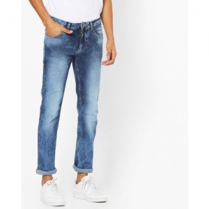 FLYING MACHINE Michael Acid-Wash Slim Tapered Jeans
