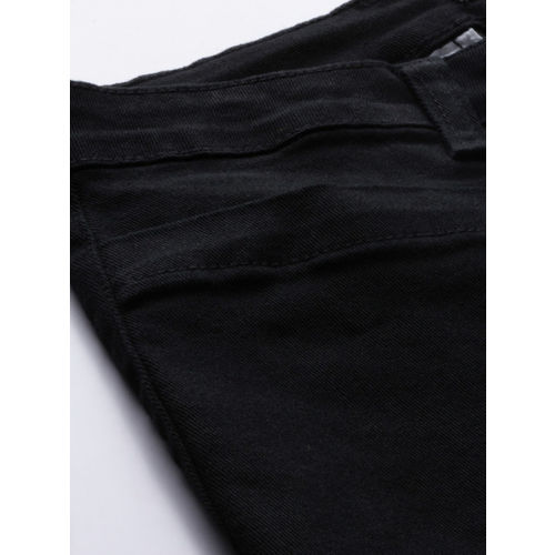 Chemistry Women Black Flared High-Rise Clean Look Stretchable Cropped Jeans