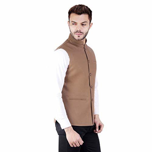 Badoliya & Sons Nehru Jacket for Men's (Brown_Shade-03_Tan)