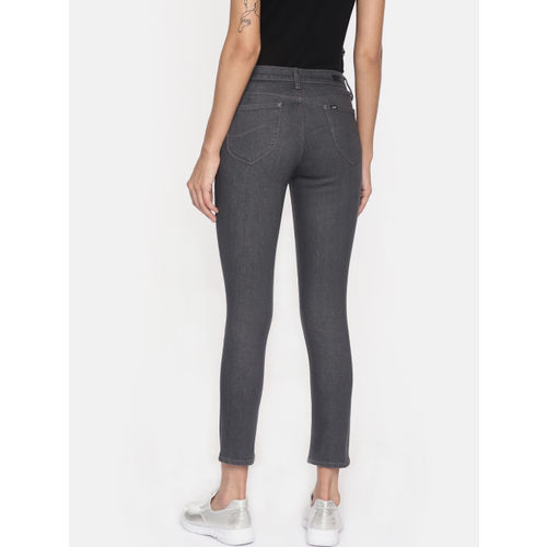 Lee Women Grey Ferry Jegging Skinny Fit Mid-Rise Clean Look Stretchable Ankle Length Jeans