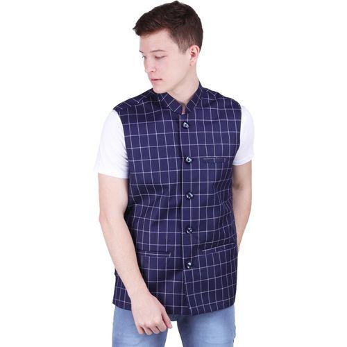 BIS Creations Sleeveless Checkered Men Jacket