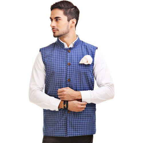 Chokore Sleeveless Checkered Men Jacket