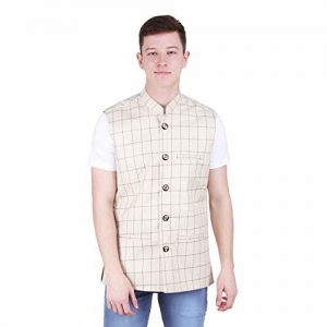 River Hill Men's Tweed Cotton Nehru Jacket - Waistcoat