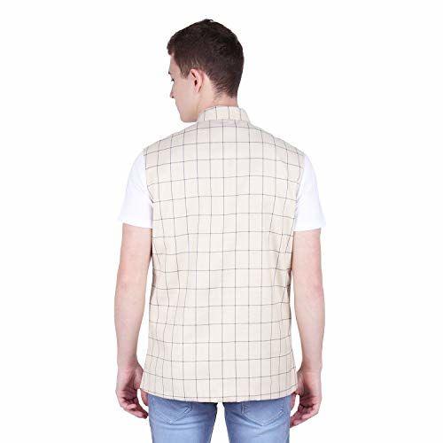 River Hill Men's Tweed Cotton Nehru Jacket - Waistcoat