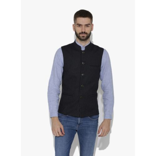 Dhrohar Sleeveless Striped Men Jacket