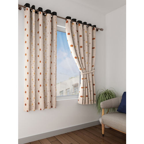 Cortina Beige Sheer Window Curtains