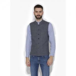 Dhrohar Sleeveless Self Design Men Jacket