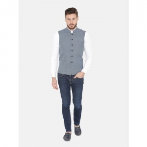 Dhrohar Sleeveless Self Design Men Jacket