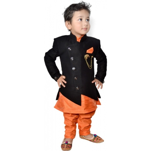Lakshu Fashions Boys Festive & Party Kurta, Waistcoat and Pyjama Set (Set Of 1)