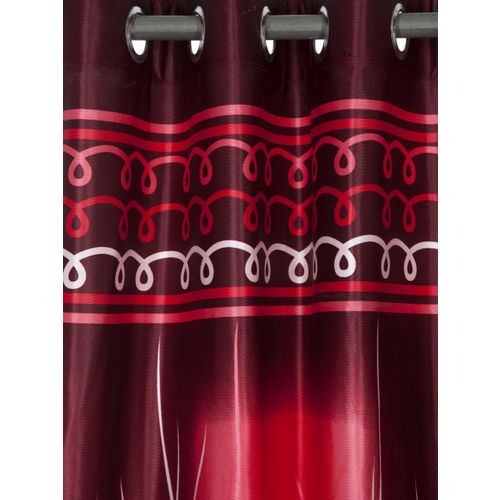 Home Sizzler Maroon Set of 2 Long Door Curtains