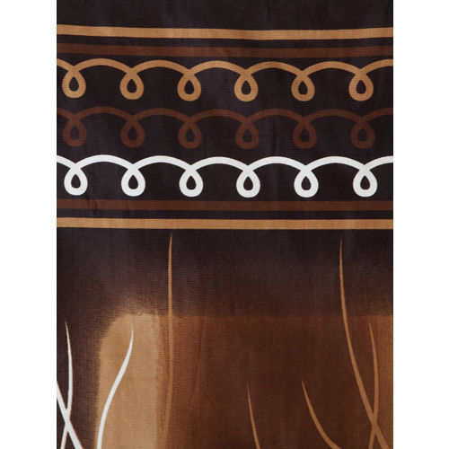 Home Sizzler Set of 2 Brown Long Door Curtains