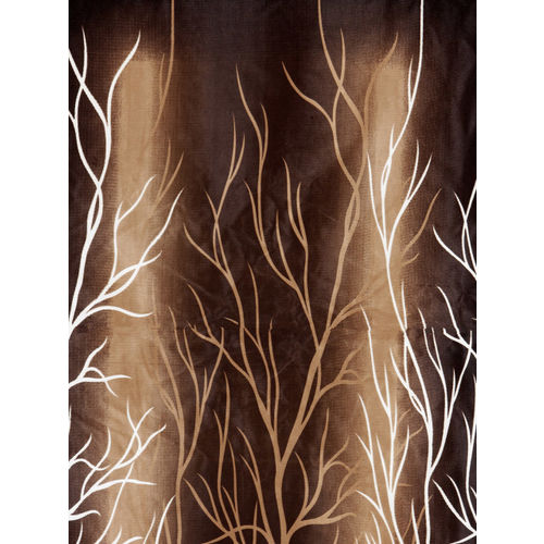 Home Sizzler Brown Set of 2 Window Curtains