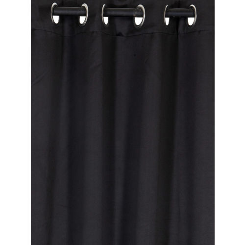 Home Sizzler Black Black Out Window Curtains