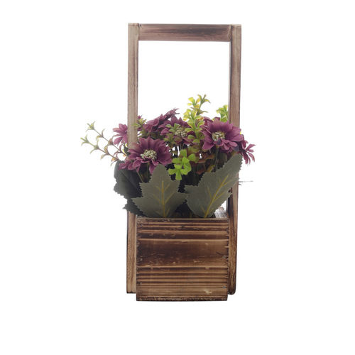 OddCroft Pink & Green Artificial Plant With Brown Pot