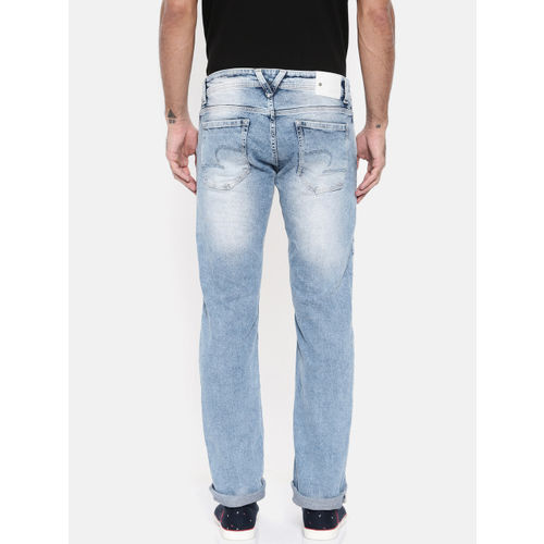 SPYKAR Men Blue Straight Fit Low-Rise Jeans