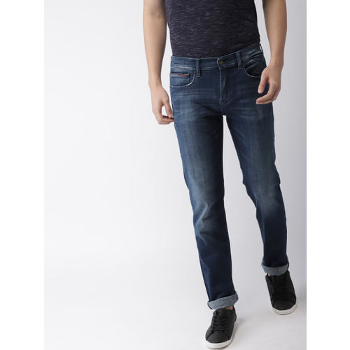 Tommy Hilfiger Men Blue Classic Straight Sutton Fit Mid-Rise Clean Look Stretchable Jeans