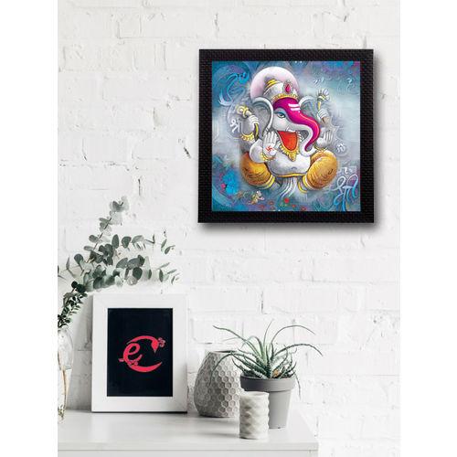 eCraftIndia Multicoloured Lord Ganesha UV Wall Art