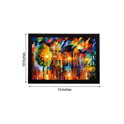 eCraftIndia Multicoloured Rain View UV Wall Art