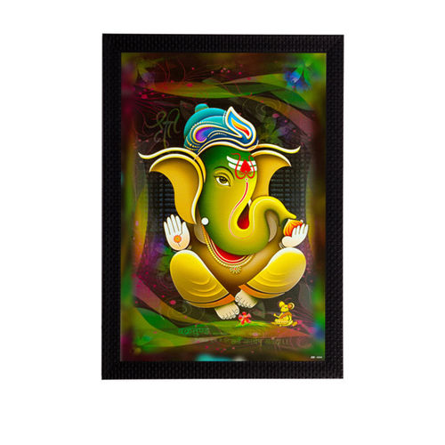 eCraftIndia Multicoloured Lord Ganesha UV Wall Art