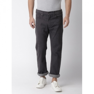 f3bb8f5b958 Levis Men Charcoal Grey Straight Fit Mid-Rise Clean Look Stretchable Jeans  513