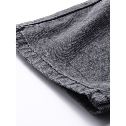 Levis Men Grey Straight Fit Mid-Rise Clean Look Stretchable Jeans 513