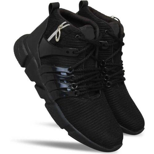 INDI HARBOUR Traning shoe,Walking shoe,Gym shoe,Sport shoe,Running shoe,cricket,tenice shoefor Mens Running shoes for boy Badminton Shoes For Men(Black)