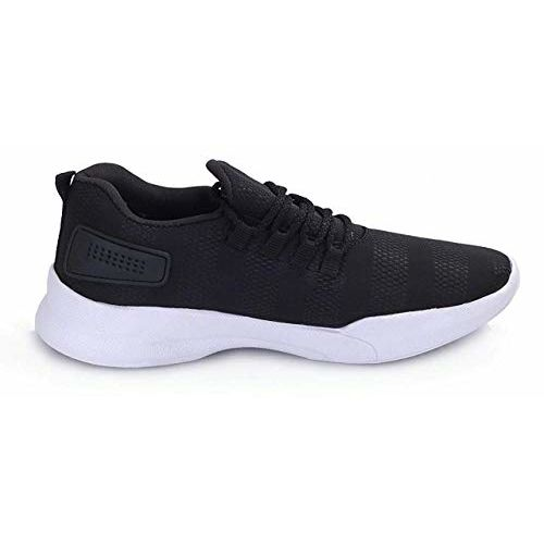 Neso Men's Black Men Spring Sole Series Mesh Smart Casual, Walking,Gymwear, Running Shoes