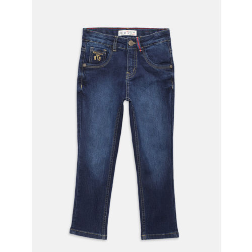 Palm Tree Boys Blue Slim Fit Mid-Rise Clean Look Stretchable Jeans